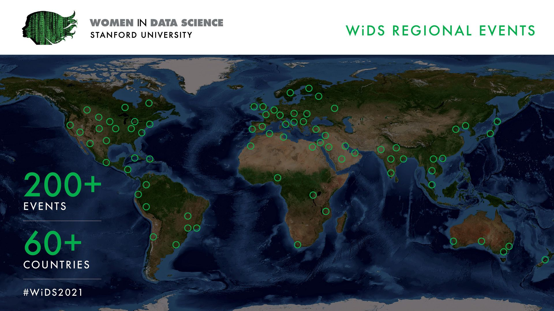 WiDS Global Conference Locations 2021